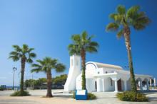 White Church And Palms, Agia N...