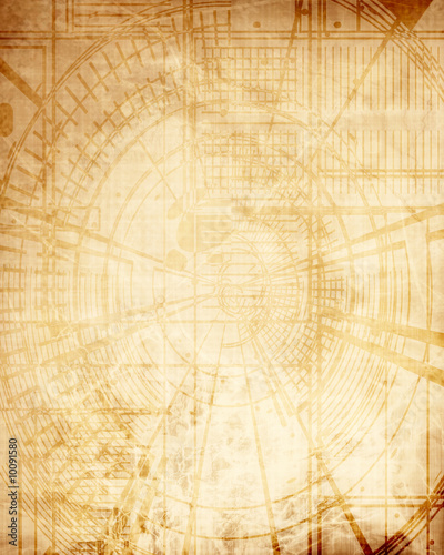 In de dag Schip old schematics on grunge paper with some stains