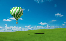 Green-white Hot Air Balloon In...