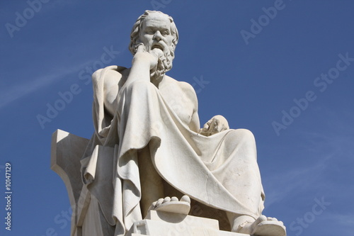Fotobehang Athene Statue of Socrates in Athens