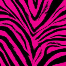 Aggressive Pink Background Based On Zebra Fur