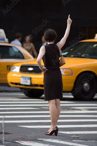 Foto op Plexiglas New York TAXI Yellow cab in New York