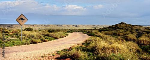 Wüstenstrasse in Australien