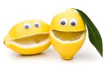 Lachende Zitronen - 2 Ungleiche Geschwister