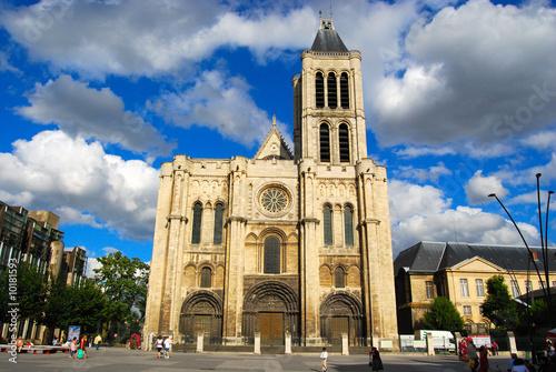 Fotografie, Obraz  Basilica Saint Denis and Saint Denis main square, Paris, France