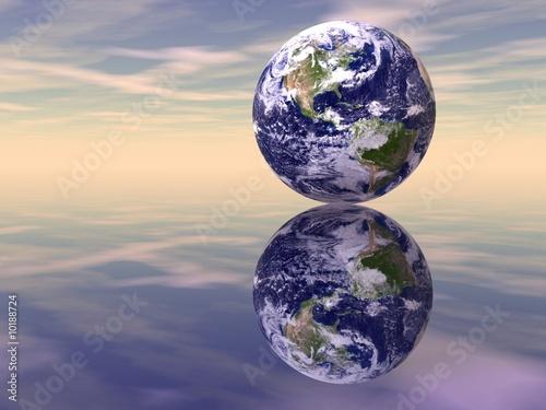 Fototapety, obrazy: Earth Reflections