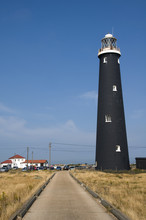 A Black Lighthouse At Dungenes...