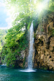 waterfall in deep forest - 10198735