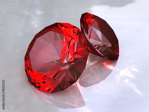 Fotografía  Ruby - red crystals
