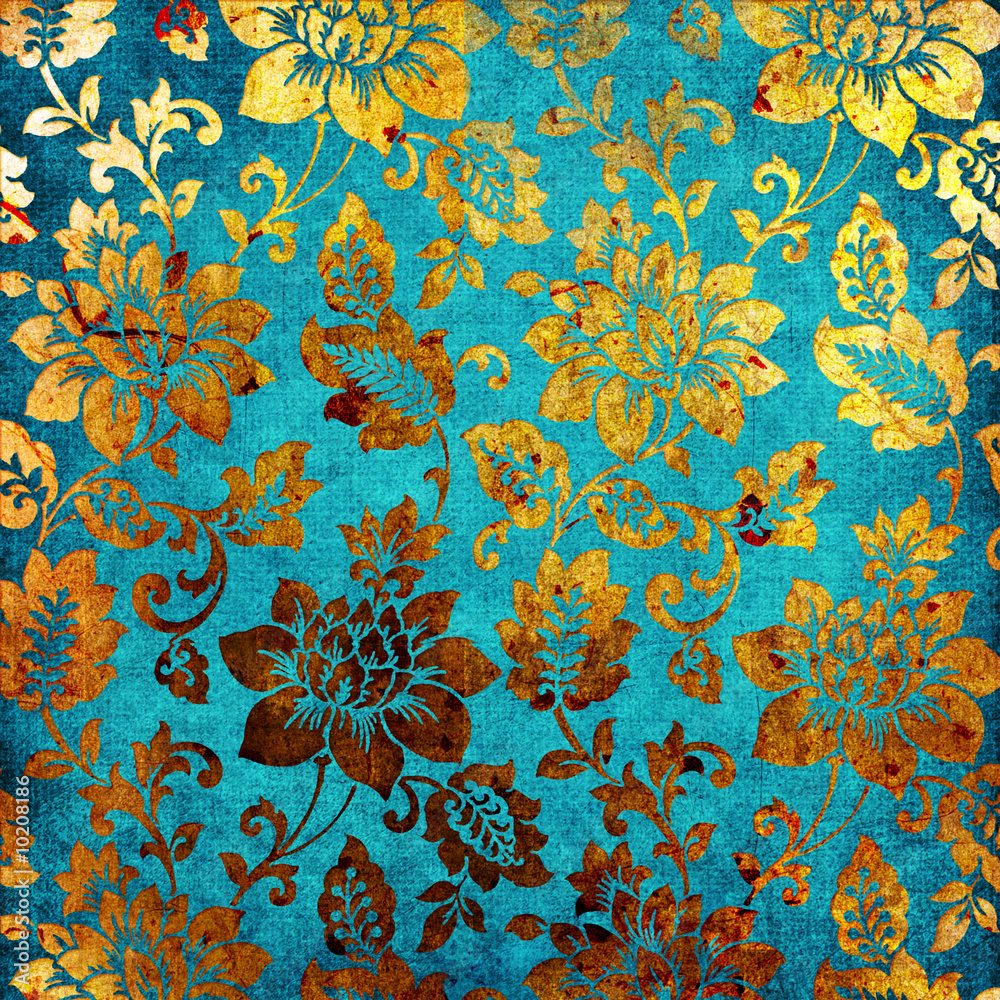 golden -blue vintage background