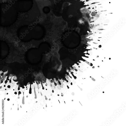 Fotografia, Obraz  tâche noire fond blanc