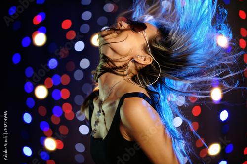 Küchenrückwand aus Glas mit Foto Tanzschule Beautiful female dancing