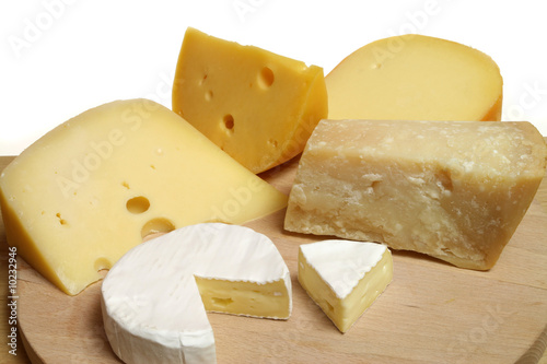 Printed kitchen splashbacks Dairy products Variety of cheese: camembert and other hard cheeses
