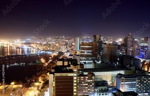 Poster Afrique du Sud harbor city night