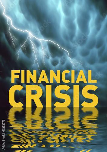 Photo  Conceptual illustration: Financial crisis (recession)