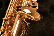 Picture Of A Beautiful Golden Saxophone