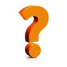 3D Orange Question Mark