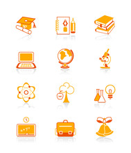 Education Objects Icons | JUICY Series