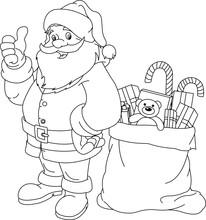 Coloring Page. Santa Claus.
