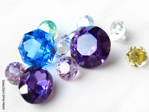 Multicolor gemstones close-up #10279943