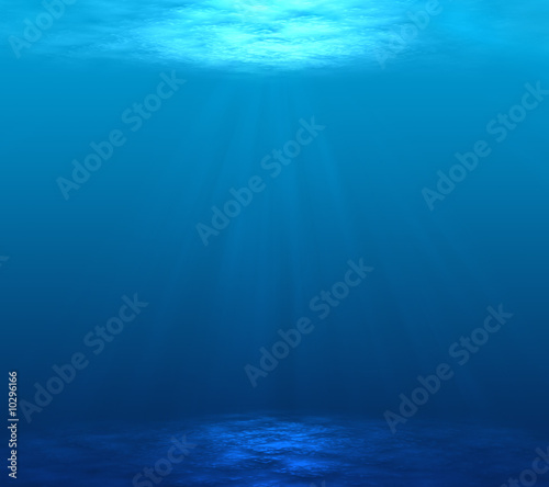 Fotografia Digitally made underwater scene