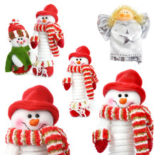 Collection Of Ñhristmas Snowman  Isolated On White Background