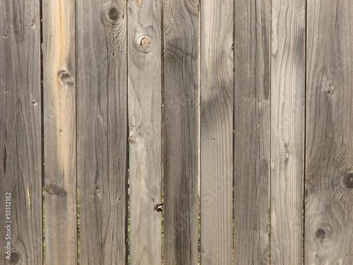 Fotografie, Obraz  Old wooden palisade