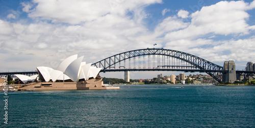 fototapeta na lodówkę Sydney skyline
