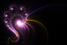 A Unique Fractal Background Glowing In A Spiral Shape.