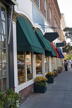 Typical  New England Or Midwest Downtown Main Street.