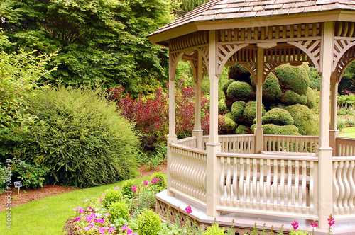Garden gazebo Fototapet