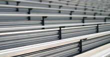 Bleachers In A Stadium Or School For The Fans