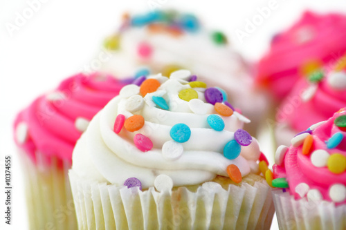 pink and white cupcakes Canvas Print