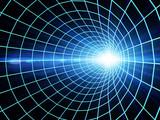 Fototapeta Perspektywa 3d - Internet concept -  3d abstract blue tunnel