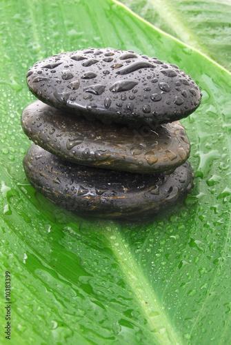 Photo sur Plexiglas Zen pierres a sable naturally wet