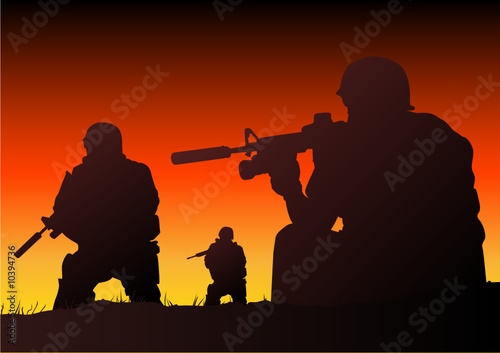 Foto op Canvas Militair Soldiers