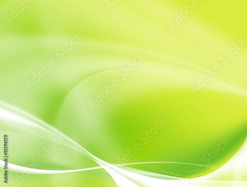 biale-delikatne-fale-na-zielonym-tle