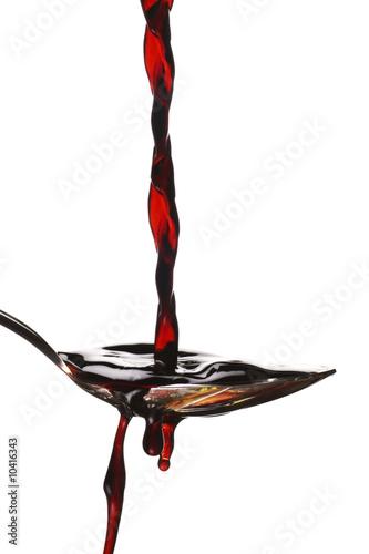 a spoonful of balsamic vinegar