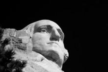 The Head Of George Washington On Mount Rushmore