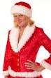 canvas print picture - blonde Weihnachtsfrau
