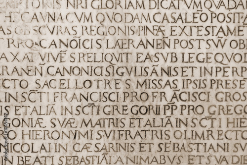 old medieval latin catholic inscription Poster Mural XXL