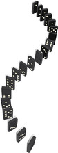 Curved Line Of Dominoes
