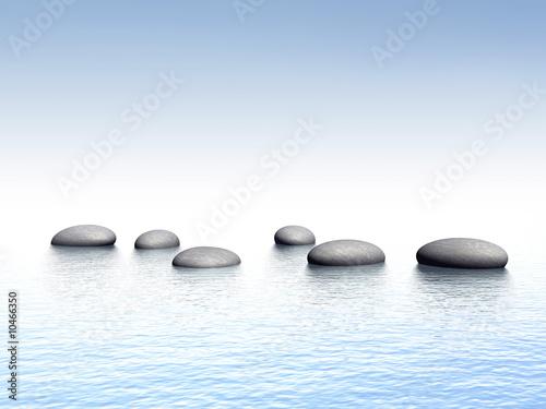 Deurstickers Zen Galet - zen