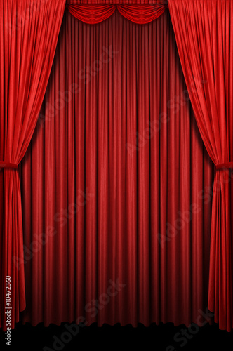 Fotografie, Obraz  Red Curtains