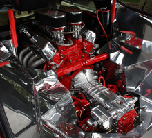 High Performance Car Engine In Compartment