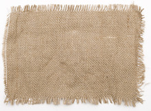 Sackcloth Material Isolated On...