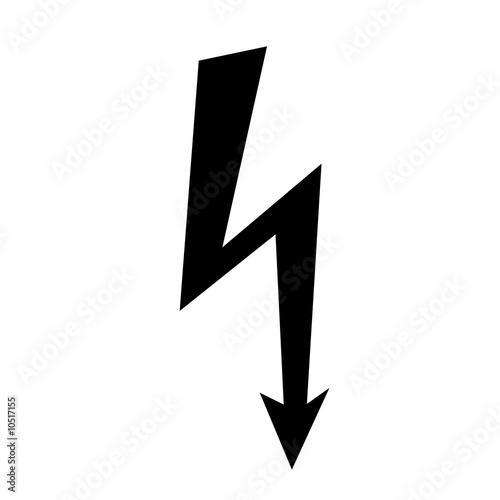 Photographie  Elektroblitz schwarz