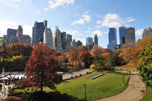 Autumn in the Central Park Wallpaper Mural