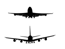 A380 & 747 Silhouettes