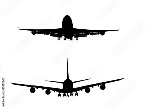 Papel de parede  A380 & 747 Silhouettes